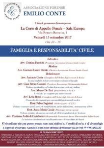 """Convegno """"Famiglia e responsabilità Civile"""" Corte d'Appello - Roma"""