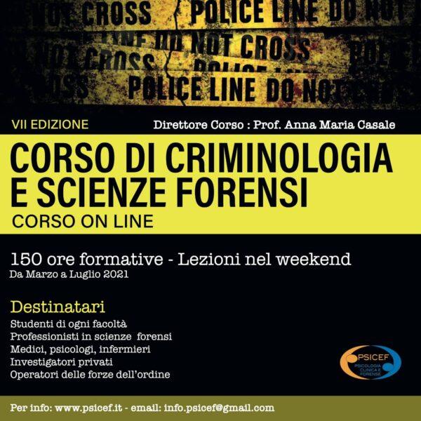 Corso di Criminologia e Scienze Forensi